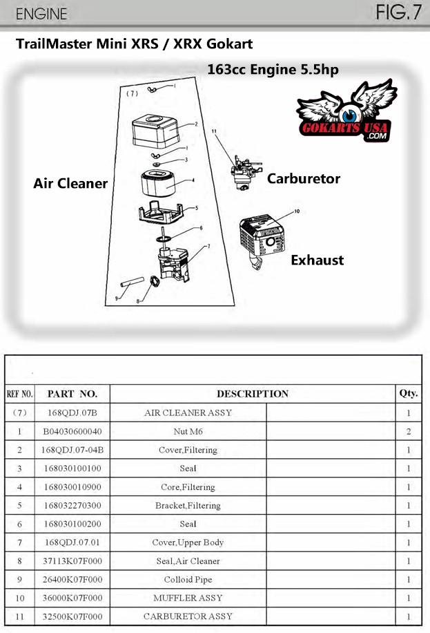 kandi go kart engine diagram chinese small engine wiring
