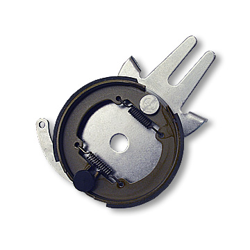 BRAKE ASSEMBLY, 4-1/2in, STEEL ANCHOR BACKING PLATE, 1in BORE