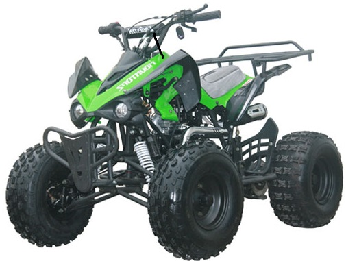 raptor 125 atv 3 speed semi automatic wreverse 8 inch wheels. Black Bedroom Furniture Sets. Home Design Ideas