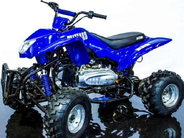 Blizzard 150 Sport ATV, Fully Automatic CVT Transmission with Reverse