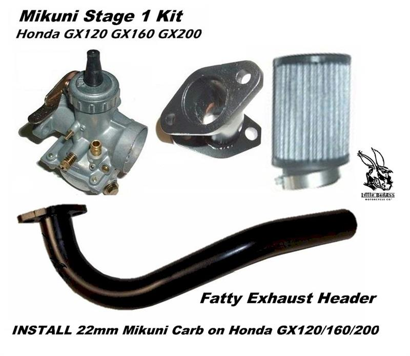 Mikuni Carb Kit With Fatty Exhaust For Predator 212 Engine