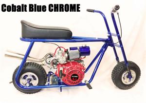 Custom 357 Mini Bike, Cobalt Blue Chrome