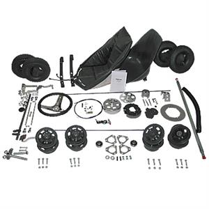 "Gokart Parts Kit, 5"" Aluminum Wheels, Less Frame (Rebuild Kit)"