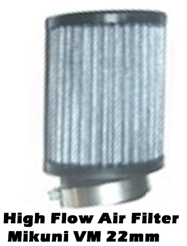 High Flow Air Filter Mikuni VM22mm Carb Honda GX160