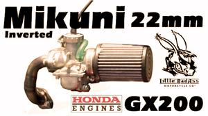 Mikuni Carb Kit, Inverted, for Honda GX120/160/200 and clones