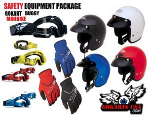 Safety Equipment Package, Go Kart, Buggy, Minibike