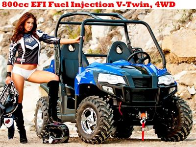 Big Buck UTV 800cc, V-Twin EFI Fuel Injection 4WD