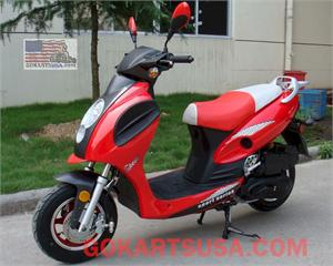 Roketa MC-01 Lambda 50 Moped Scooter