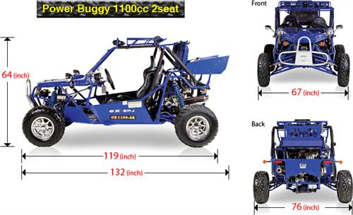 Bms power buggy 1100 2 seater powerbuggy dune buggies for Go kart interieur montreal