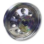 10 inch Chrome Wheel with Brake Drum and Bearings. Part# 10152