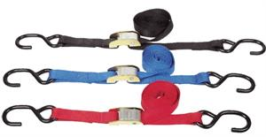 1 inch Tie Downs, with cam buckle, set of 2