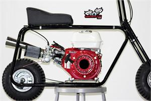 Hornet Minibike, shown with Mikuni Stage 1 and StingerHornet Minibike, shown with 5inch Wheels, Honda GX160 Mikuni and Stinger