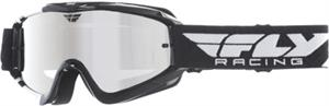 ZONE GOGGLE Black/White w/ Chrome/Smoke Lens