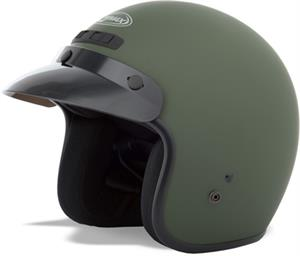 GM2 OPEN FACE HELMET, Flat Green