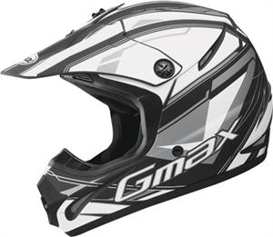 GM46.2X TRAXXION HELMET Flat Black/White/Silver