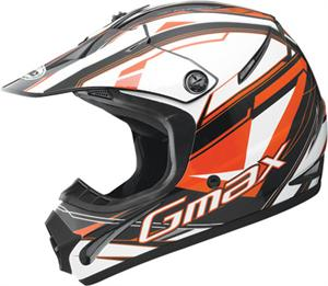 GM46.2X TRAXXION HELMET Flat Black/Orange/White