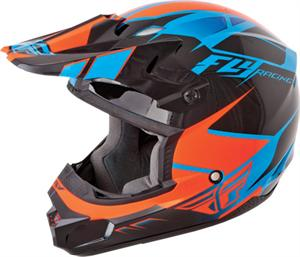 KINETIC IMPULSE HELMET Blue/Black/Orange
