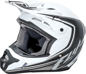 RACING KINETIC FULLSPEED HELMET Matte White/Black