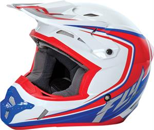 FLY RACING KINETIC FULLSPEED HELMET White/Red/Blue