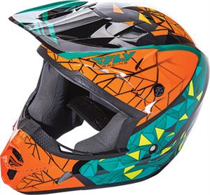 FLY RACING KINETIC CRUX HELMET Teal/Orange/Black