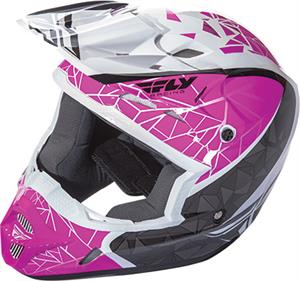 FLY RACING KINETIC CRUX HELMET Pink/Black/White