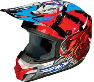 KINETIC FLY-BOT YOUTH HELMET Red, Black