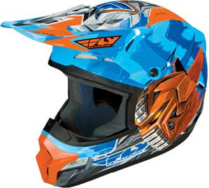 FLY-BOT YOUTH HELMET Blue/Orange