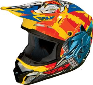 YOUTH HELMET Yellow Orange Blue