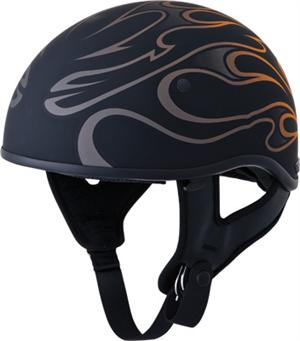 GMAX .357 HALF HELMET, Orange Flame
