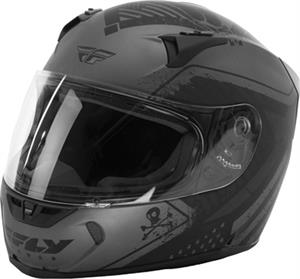 FLY STREET FLY REVOLT PATRIOT HELMET Matte Grey/Black