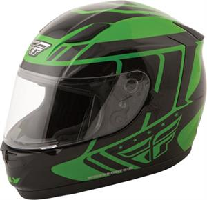 STREET CONQUEST RETRO HELMET Green/Black