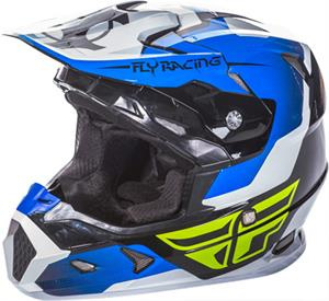 FLY RACING TOXIN HELMET Blue/Black/White