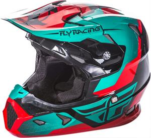 FLY RACING TOXIN HELMET Red//Teal/Black