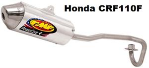 FMF Exhaust for Honda CRF110F, Aluminum