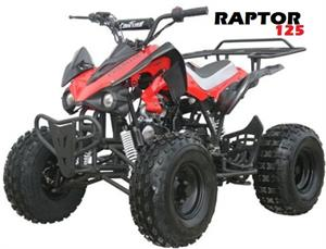 Raptor 125 ATV, 3-Speed Semi Automatic wReverse, 8 inch wheels