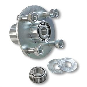 Adapter Hub, Zinc Plated Steel, w/ 5/8 ID Tapered Roller Bearing