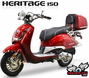 BMS Heritage 150 Moped Scooter : California Legal Scooters