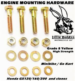 Engine Mounting Hardware Kit, Gokart Minibike