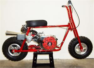 Frijole Mini Bike, New, Fully Assembled, Red Devil
