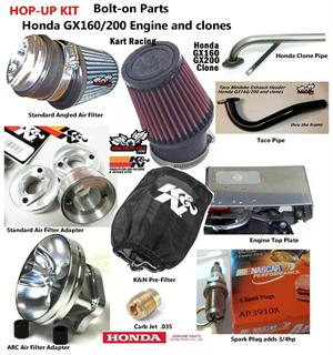 GX200 Hop-Up Kit, bolt-on Engine Upgrade for Honda GX160/200