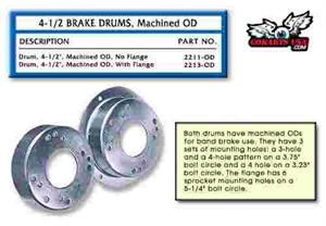 Brake Drum, gokart minibike