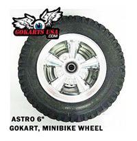 Astro Aluminum Wheel Assembly, 6 inch gokart minibike
