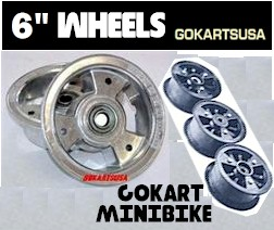 Gokart and minibike Wheels, 6 Inch