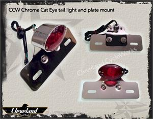Heist Bobber Cat Eye Tail Light / License Plate Mount