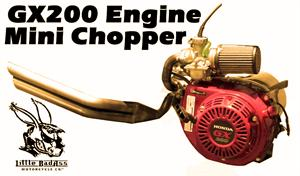 GX200 Engine Assembly, for Little BadAss Mini Chopper