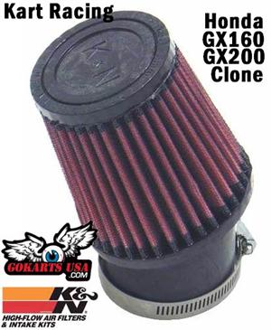 K&N High Flow Air Filter, Race Kart Honda GX160 / GX200 and clones
