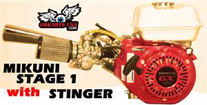 Honda GX200 Engine with Mikuni Stage 1 and stinger Exhaust