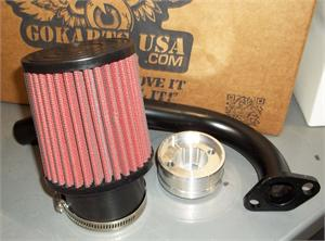 Mini Bike Stage 1 Kit, for Honda/clone stock carb, w Curved Exhaust