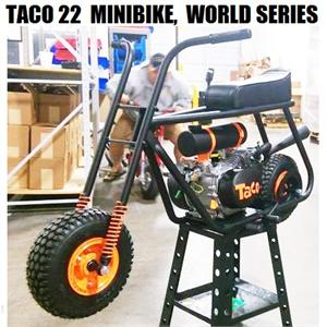 Taco 22 Mini Bike, Fully Assembled, SF World Series Theme
