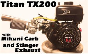 TX200S with Mikuni Carb & Stinger Exhaust